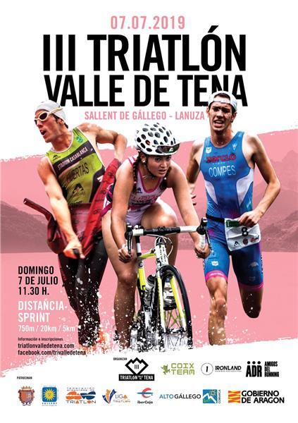 cartel triatlon valle de tena 2019 - pzbaldetena