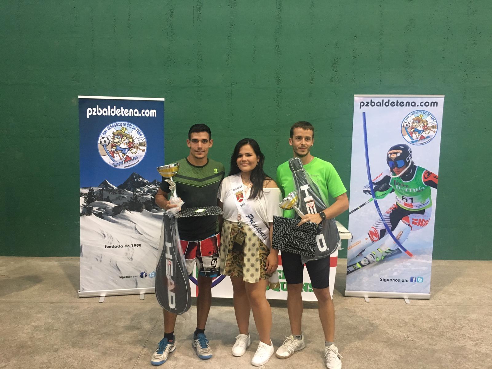 torneo frontenis biescas 11-08-19 campeones - pzbaldetena