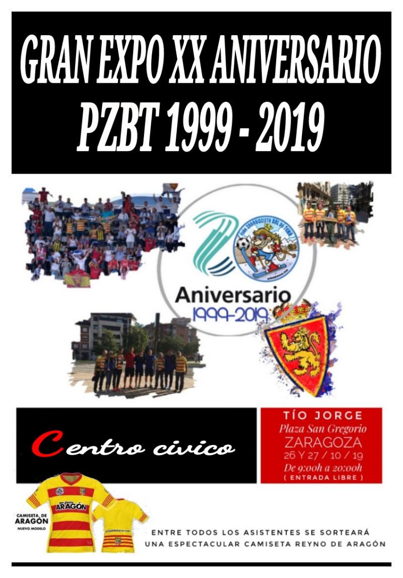 cartel expo XX aniversario PZBT 1999-2019 - pzbaldetena
